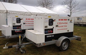Generator Hire for Marquee Event in Dorset