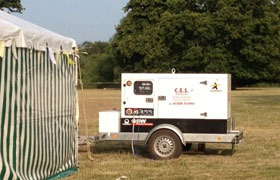 Lighting and Generator Hire Somerley Park, Ringwood, Hampshire