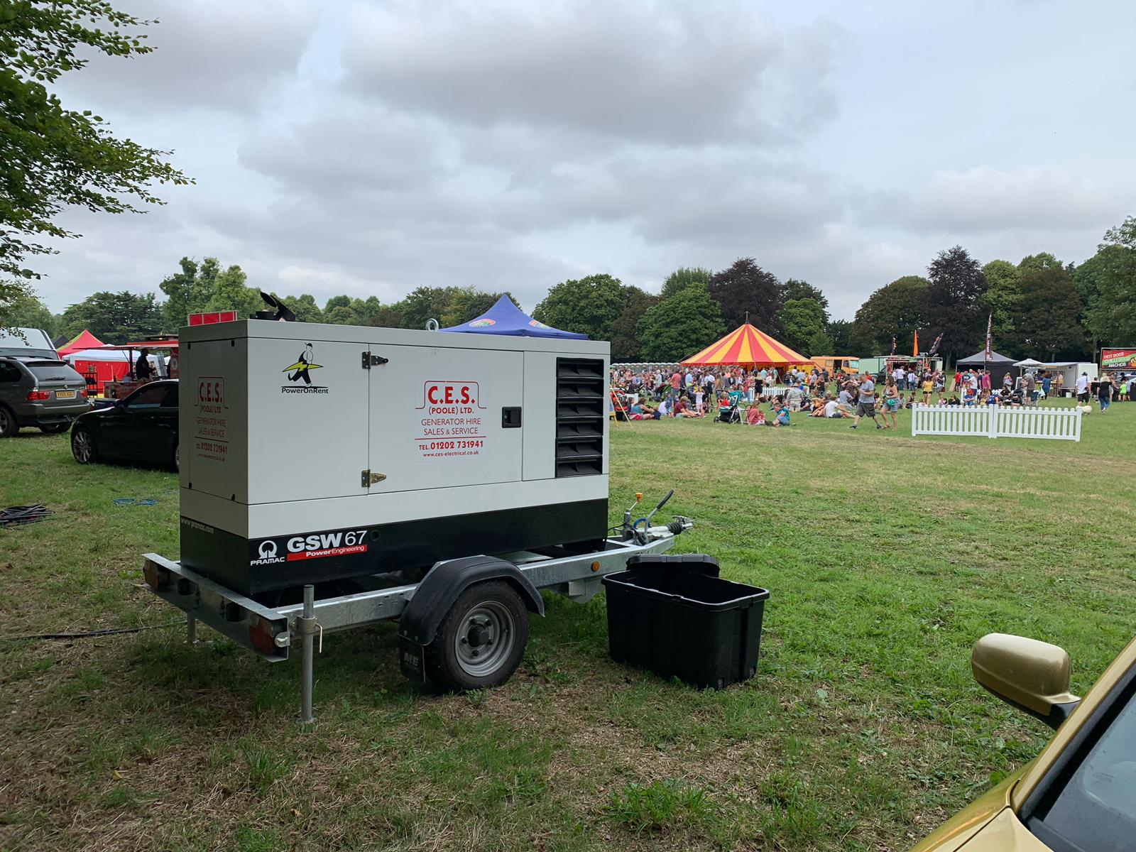 generator hire at events